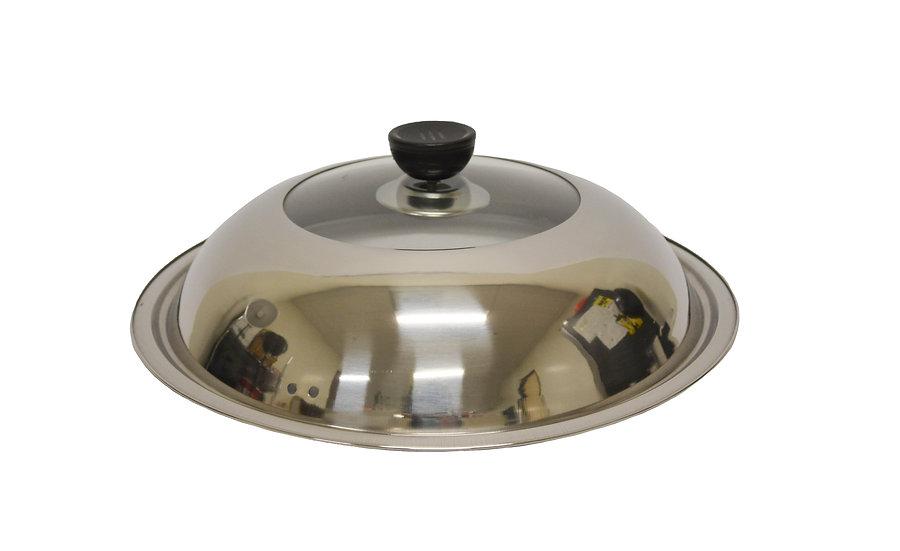 "STAINLESS STEEL GLASS LID - 30 CM ( 12.60""), ITEM# 800223,  不銹鋼和玻璃組合蓋"