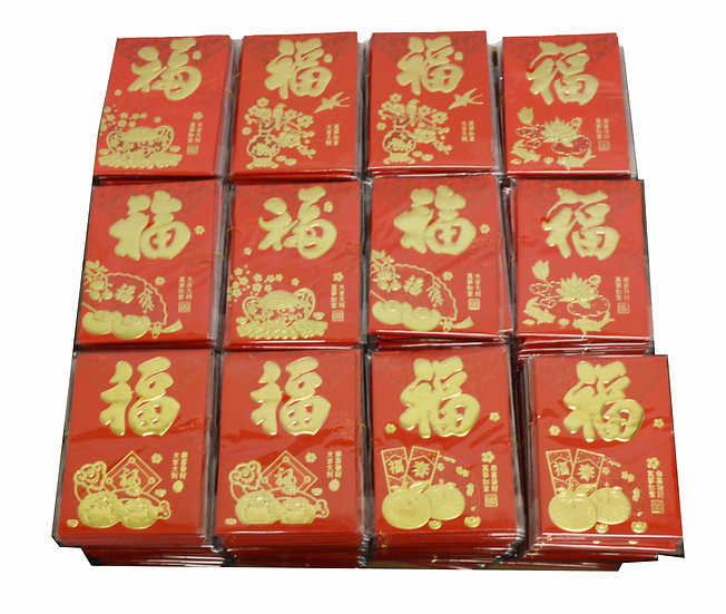RED ENVELOPES, 6 PCS/BAG, 10 BAGS, ITEM# 00808024,  紅包袋