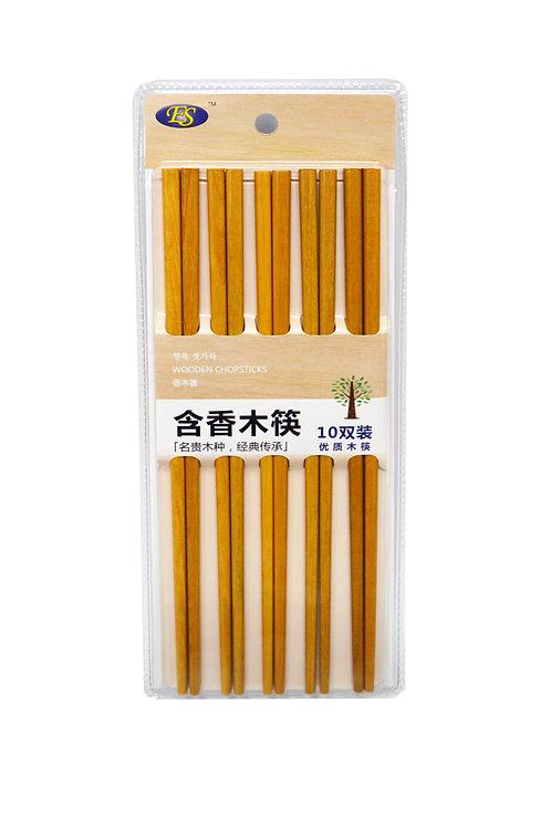 #801974 WOODEN CHOPSTICKS-10 PAIRS 含香木筷