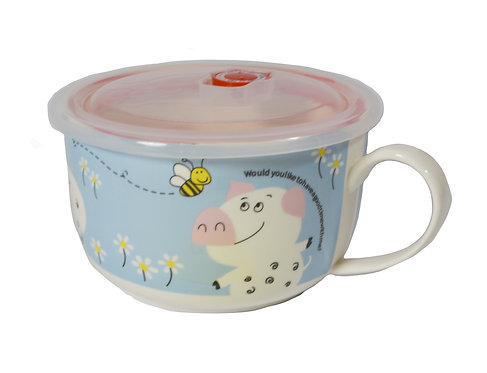 """#802171 CERAMIC CUP WITH LID -6"""" 陶瓷保鮮碗"""