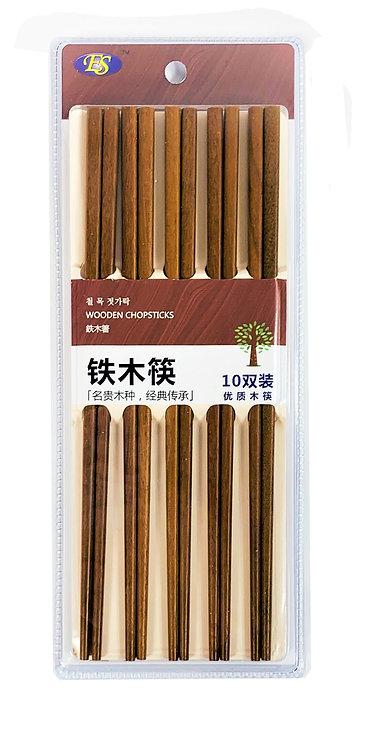 #801976 WOODEN CHOPSTICKS-10 PAIRS 鐵木筷