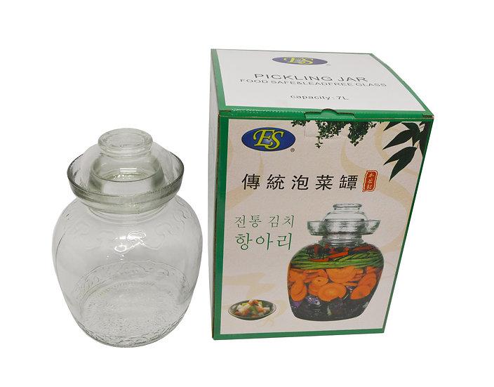 ES GLASS JAR-7 L,ITEM#00800572,如意泡菜罐*1 PCS