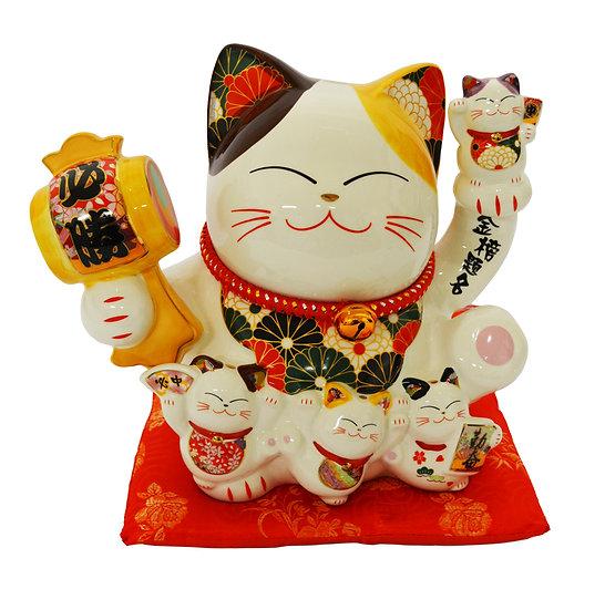 "LUCKY CAT 10"" -PIGGY BANK(86114),ITEM#00808444,招財貓錢罐(1 PCS)"