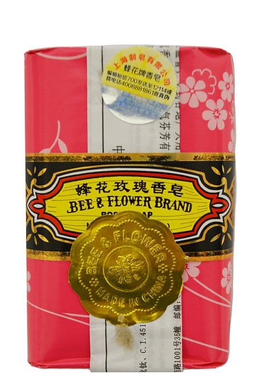 BEE & FLOWER ROSE SOAP 125 G , ITEM#00806502, 蜂花玫瑰香皂(4 PCS)
