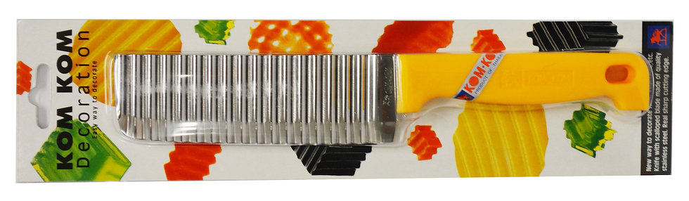 "KOM-KOM 5.5"" WAVE KNIFE WITH HANDLE, 3 PIECES, ITEM# 00801369,  波浪刀3 把"
