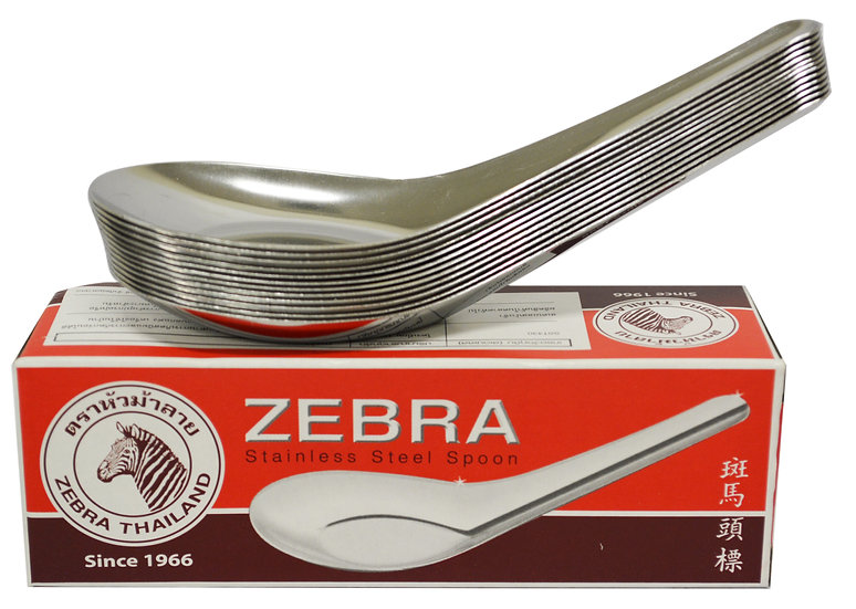 STAINLESS STEEL CHINESE SPOONS - LARGE, 12 PCS,  ITEM# 801226, 不鏽鋼調羹 12 把