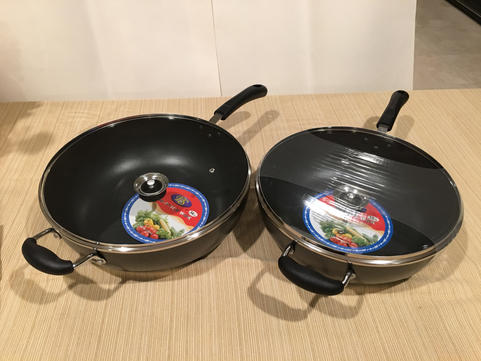 800042 NON-STICK WOK WITH LID