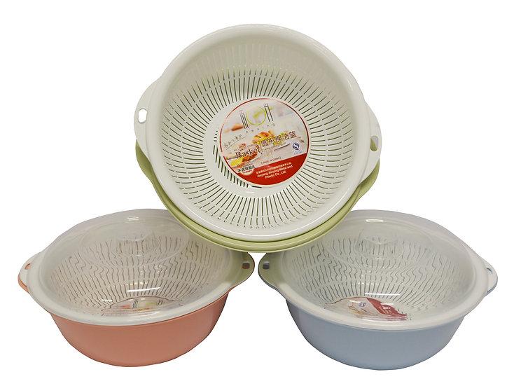 28 CM COLANDER /STRAINER / BASIN WITH LID,  ITEM# 00803278,  三層洗菜籃