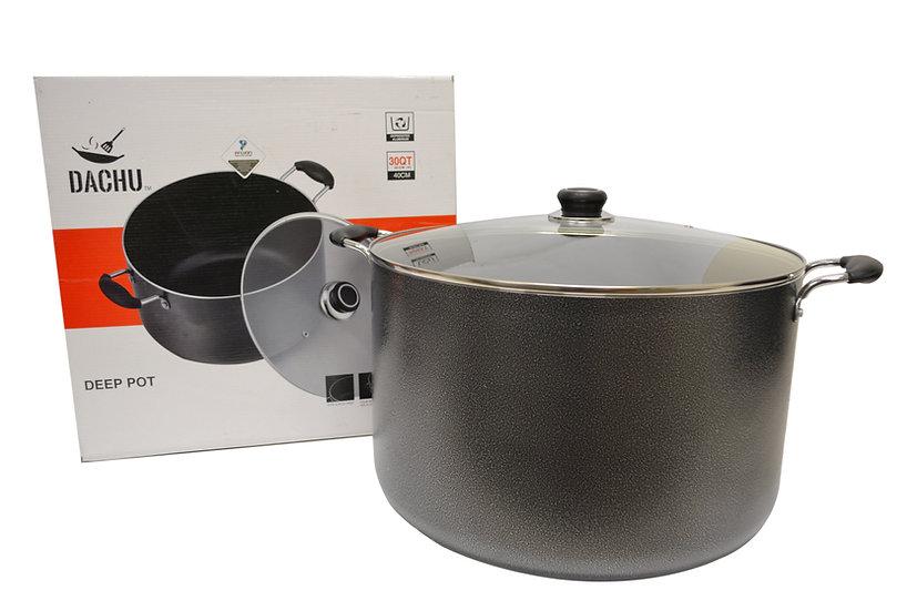 NON STICK COOKING POT 30 QT,ITEM#00800028,不沾雙耳湯鍋