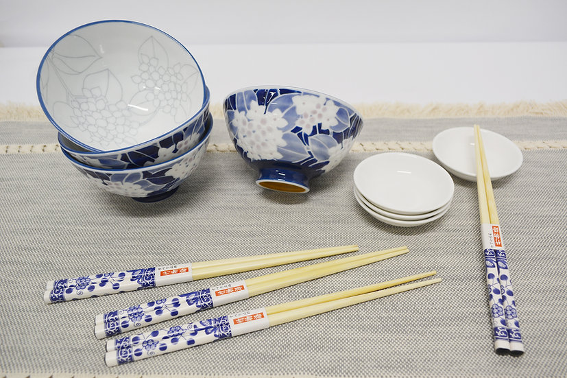 12 PIECES JAPANESE BOWLS COLLECTION/DINNER BOWLS, ITEM# AG031-12, 日本瓷碗/飯碗套裝組合