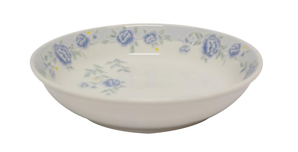 "8""  CERAMIC DINNER PLATE,ITEM#00802312,日常瓷盤-藍牡丹(6 PCS)"