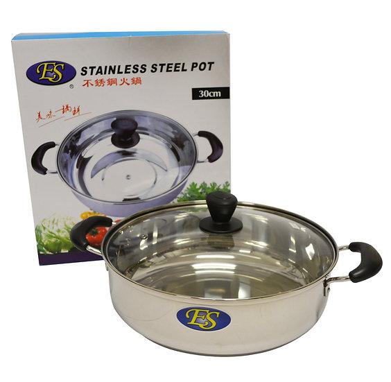 30CM STAINLESS STEEL HOT POT, ITEM#00800193,不銹鋼鴛鴦火鍋(1 PCS)