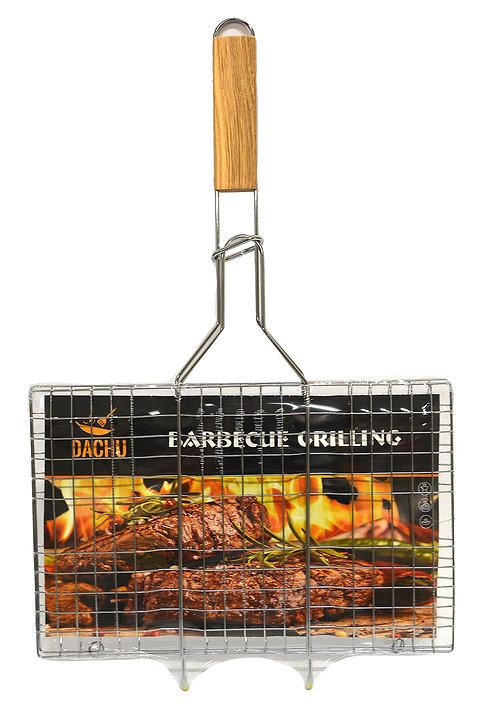 #801641 DACHU BBQ GRILLING RACK-34 X 22 CM  木柄燒烤網