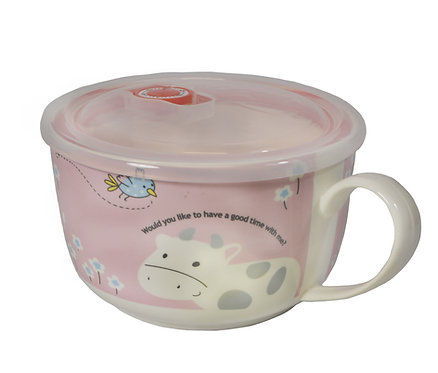 """#802173 CERAMIC CUP WITH LID -6"""" 陶瓷保鮮碗"""