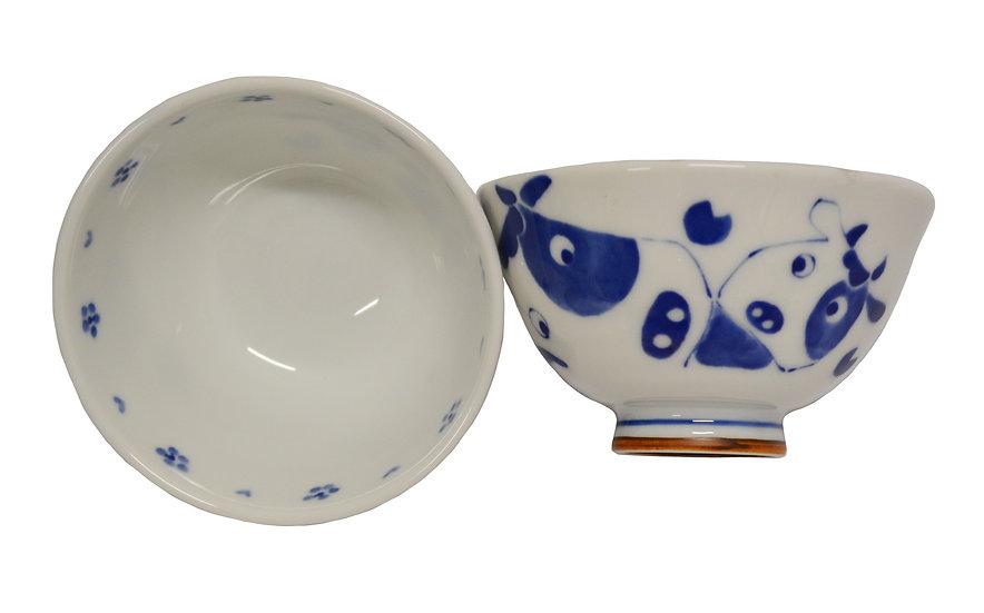 JAPANESE ETO RICE  BOWL,ITEM# AG-002, 日本瓷碗(4 PCS)
