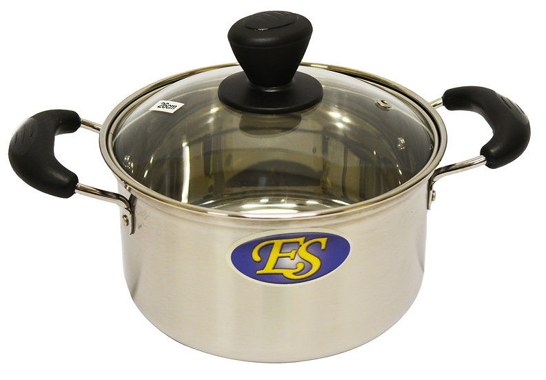 26CM  STAINLESS STEEL COOKING POT, ITEM#00800169, 不銹鋼湯鍋