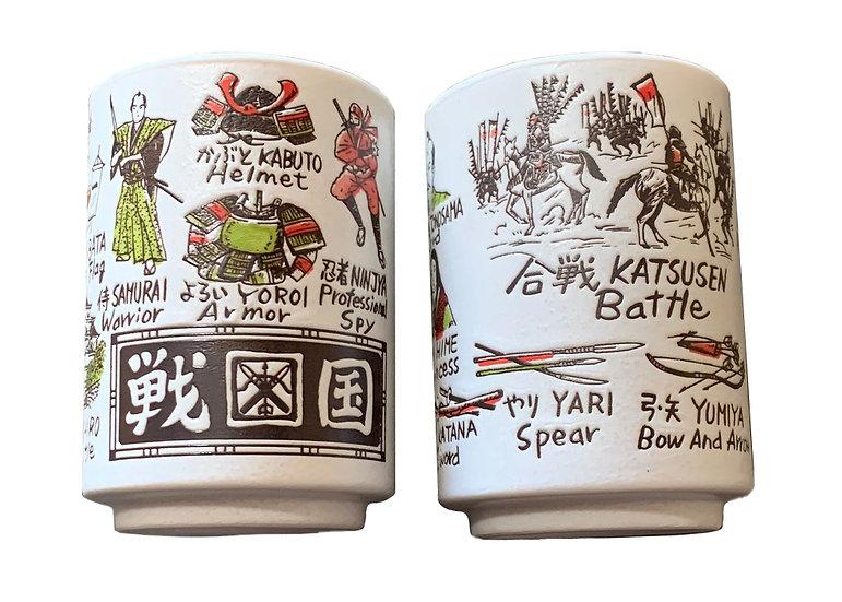 JAPANESE TEA CUP/SUSHI CUP, 4 CUPS,ITEM# AF-008, 日本茶杯4個