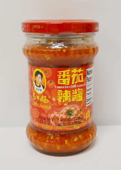 LAOGANMA TOMATO CHILI SAUCE -210G, 2 BOTTLES, 老干妈番茄辣酱