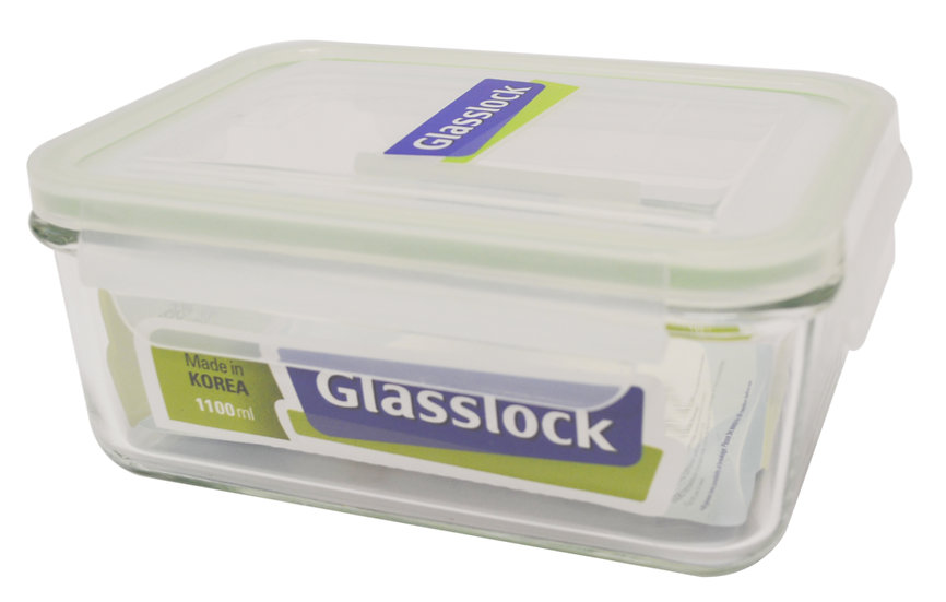 1100 ML GLASS LOCK/FOOD STORAGE CONTAINER, 2 PCS, ITEM# RP-518,  便當盒 2 個