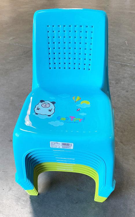 #805202 CHAHUA PLASTIC CHILDREN CHAIR-0821  塑膠兒童靠背椅/小板凳