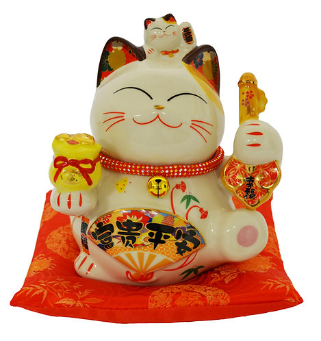 "#808421 LUCKY CAT-8""(35827)  招財貓"