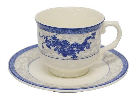 #802742 CUP AND SAUCER-DRAGON 龍鳳茶碟組(6 SET)