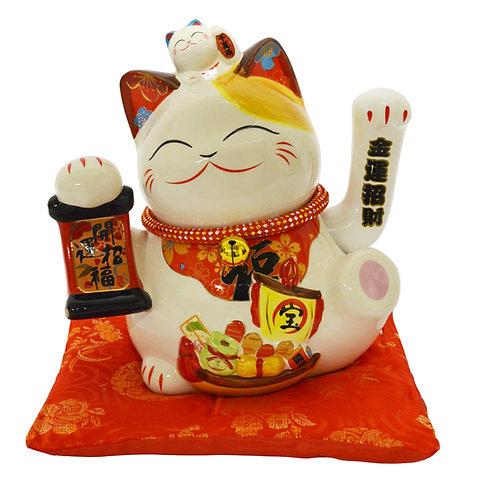 "#808425 LUCKY CAT- 8"" (35860) 招財貓"