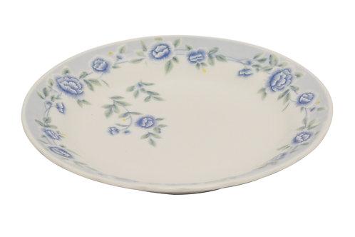 "#802318 FLAT PLATE-BLUE PEONY-9"" 藍牡丹平盤"