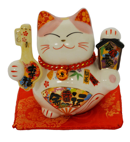 "LUCKY CAT  3""PIGGY BANK(35317),ITEM#00808416,招財貓錢罐"