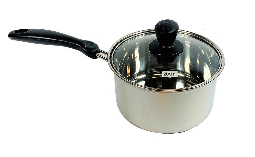 20 CM STAINLESS STEEL SAUCE POT, ITEM#00800172, 不銹鋼單柄鍋