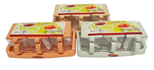 #803024 SPICE CONDIMENT SET(3 PCS/1 SET) 三組調味盒(方形)