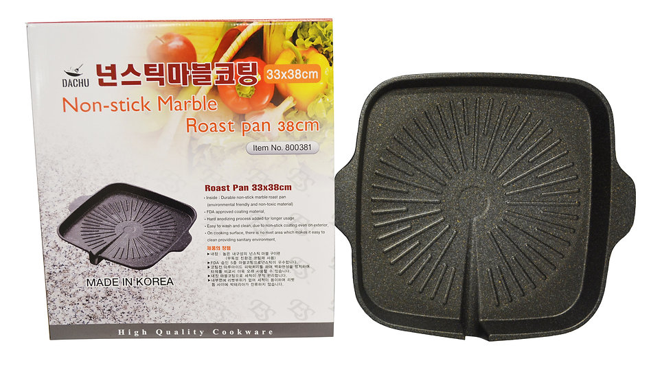 NON STICK GRILL PAN, MADE IN KOREA, ITEM# 800381, 韓國不粘烤盤