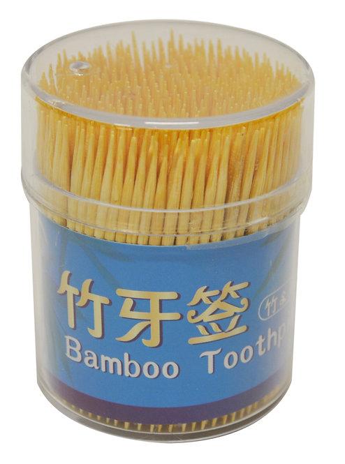 #801892 BAMBOO TOOTHPICK (500PC/2P) 竹牙籤-雙尖