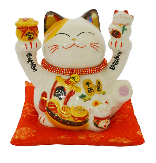 "LUCKY CAT  8"" PIGGY BANK(35825),ITEM#00808420,招財貓錢罐(1 PCS)"