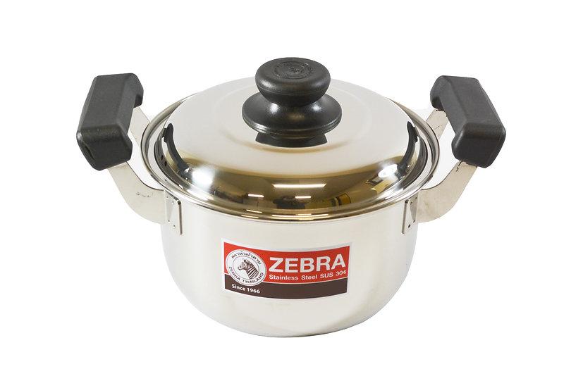 22CM  ZEBRA STAINLESS STEEL COOKING POT,ITEM#  00800292,不銹鋼湯鍋