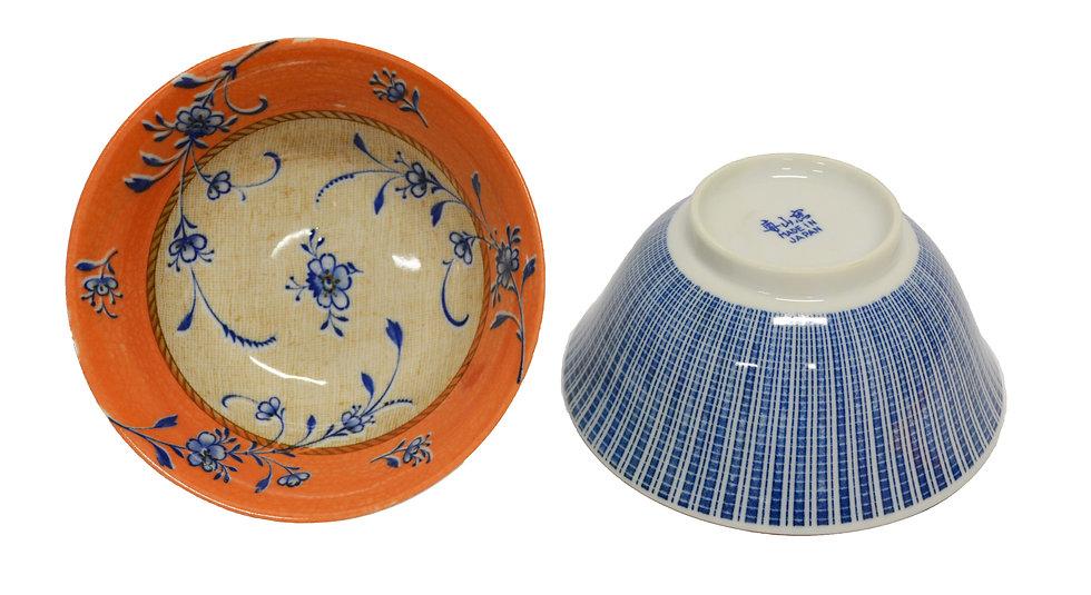 JAPANESE DONBURI BOWL - L, 4 PCS, ITEM#AE-037, 日本瓷碗 4 個