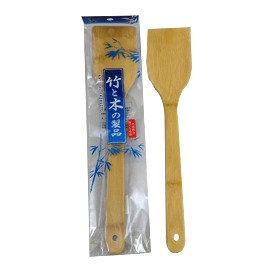 BAMBOO RICE SPOON / PADDLE - CURVED, SET OF 2 PCS