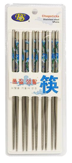 STAINLESS STEEL CHOPSTICKS, 5 PAIRS/PACK, 3 PACKS, ITEM# 801992, 不鏽鋼筷子15雙