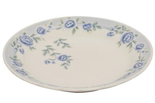 "#802319 FLAT PLATE-BLUE PEONY-10.5"" 藍牡丹平盤"