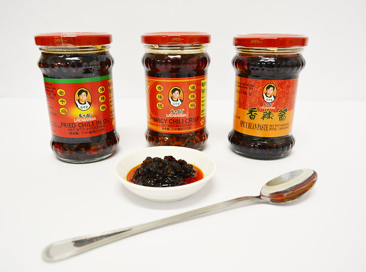 LGM FRY CHILI IN OIL+SPICY CHILI CRISP+SPICY BEAN PASTE+1PC DISH+1PC SPOON