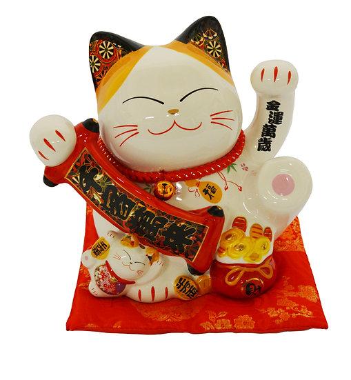 "LUCKY CAT 9""-PIGGY BANK(86900),ITEM#00808430,招財貓錢罐(1 PCS)"