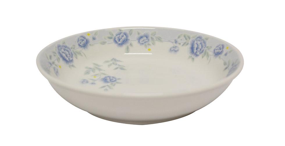 "7""  CERAMIC DINNER PLATE,ITEM#00802311,日常瓷盤-藍牡丹(6 PCS)"