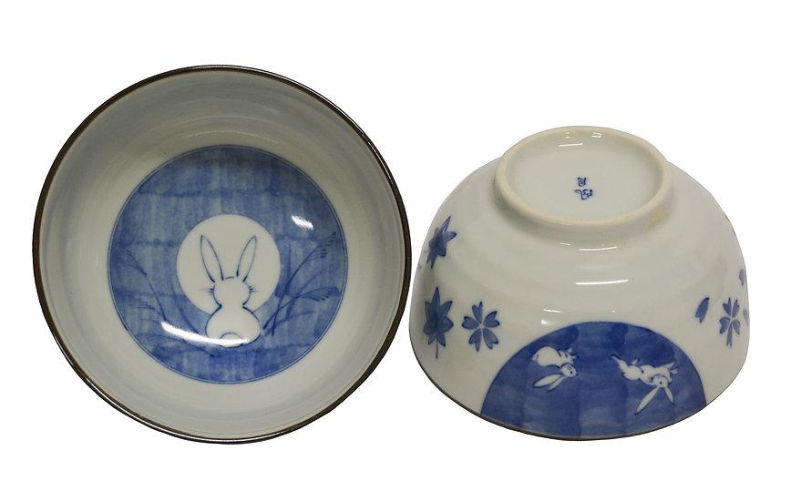 """JAPANESE DONBURI BOWL - 6"""", 2 PCS, ITEM#AE-064, 日本瓷碗 2 個"""