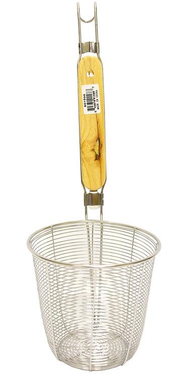 #801565-1566 STAINLESS STEEL NOODLE DREDGER-12.5/14 CM  木柄不鏽鋼麵撈