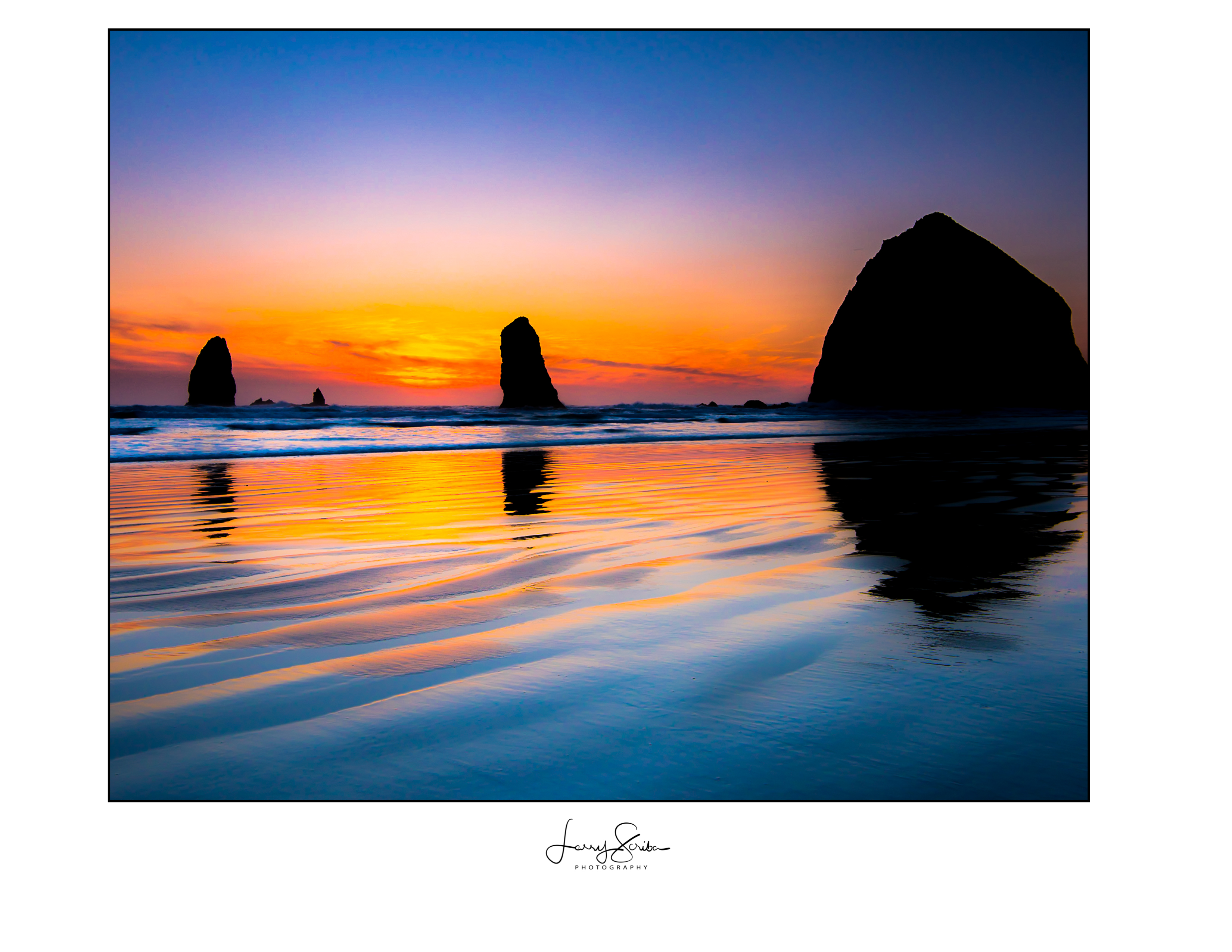 Bandon Beach Sunset Glow