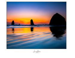 Bandon Beach Sunset Glow