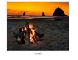 Bandon Beach Campfire