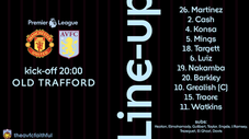 Away Lineup Graphic 20/21