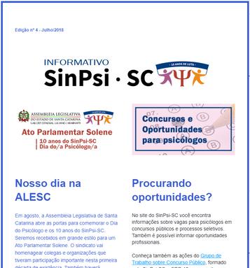 Informativo online 04 - SinPsi/SC