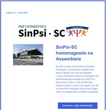 Informativo online 02 - SinPsi/SC